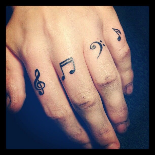finger tattoos for women | tattoos of music notes musical ...