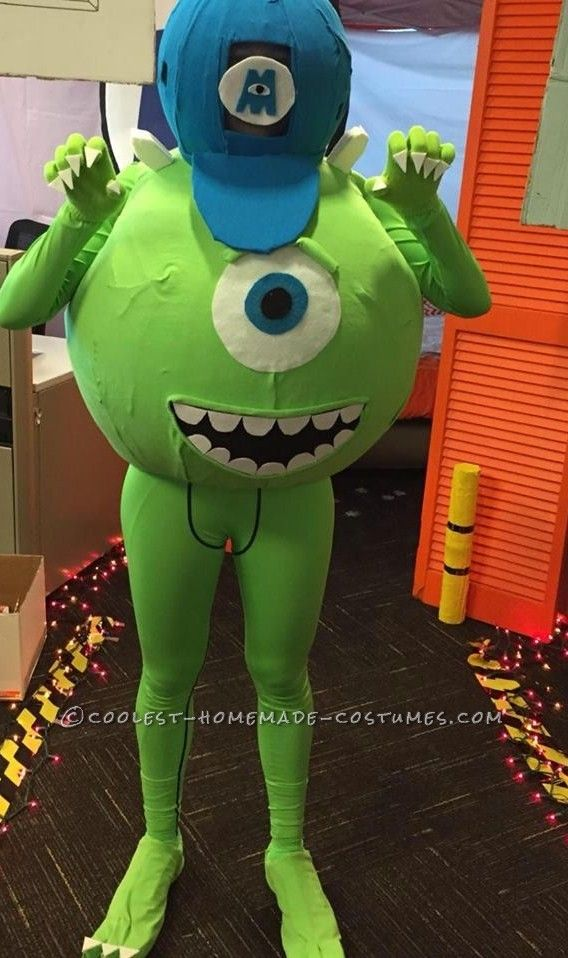 0af04c6600c6 Coolest Adult Mike Wazowski Costume... Coolest Halloween Costume Contest