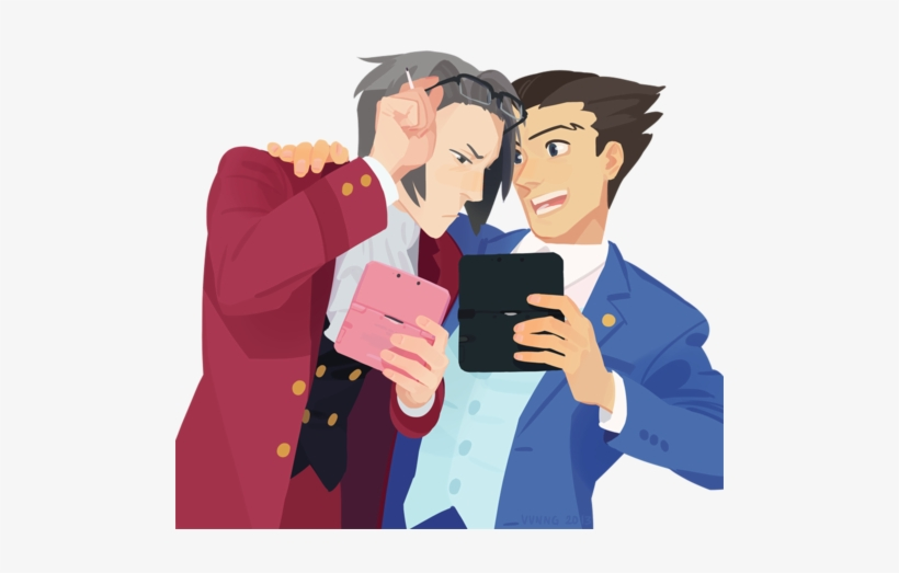 Ace Attorney Phoenix Wright And Miles Edgeworth Phoenix Wright Ace Wright