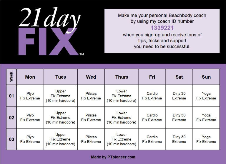 Pin On 21 Day Fix Workouts