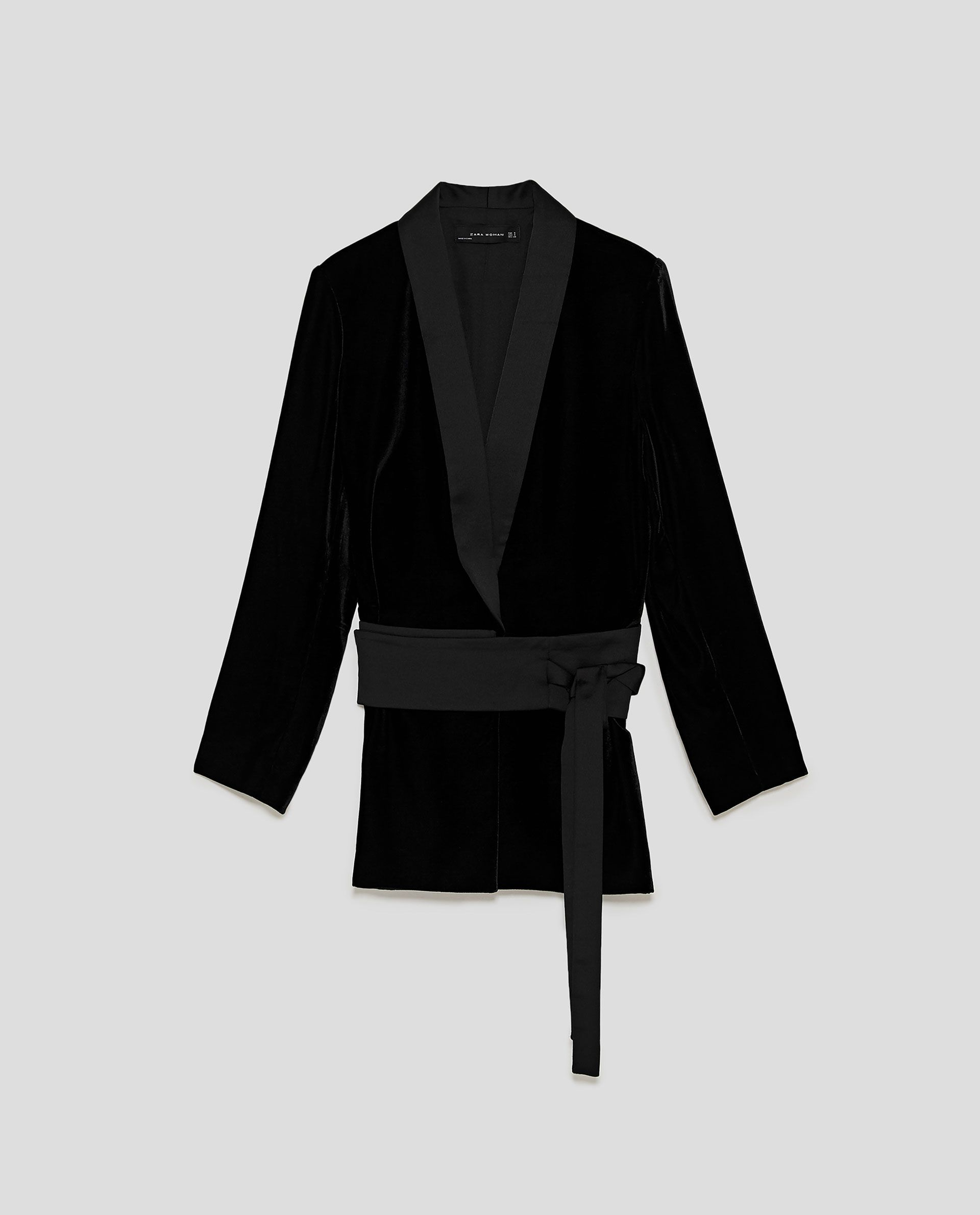 544cd6ac Image 8 of VELVET JACKET WITH SASH BELT from Zara | My Style ...