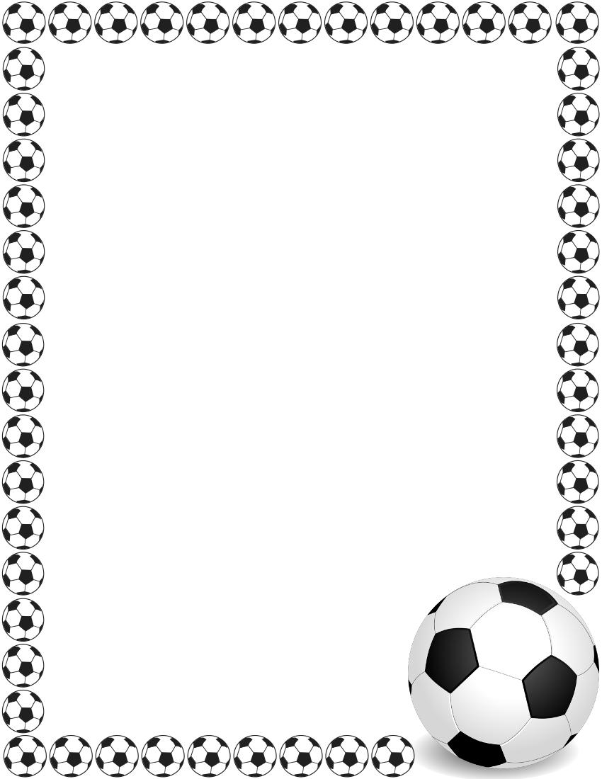 soccer border 2 | Marcos/Frame | Pinterest | Papercraft, Scrap and ...