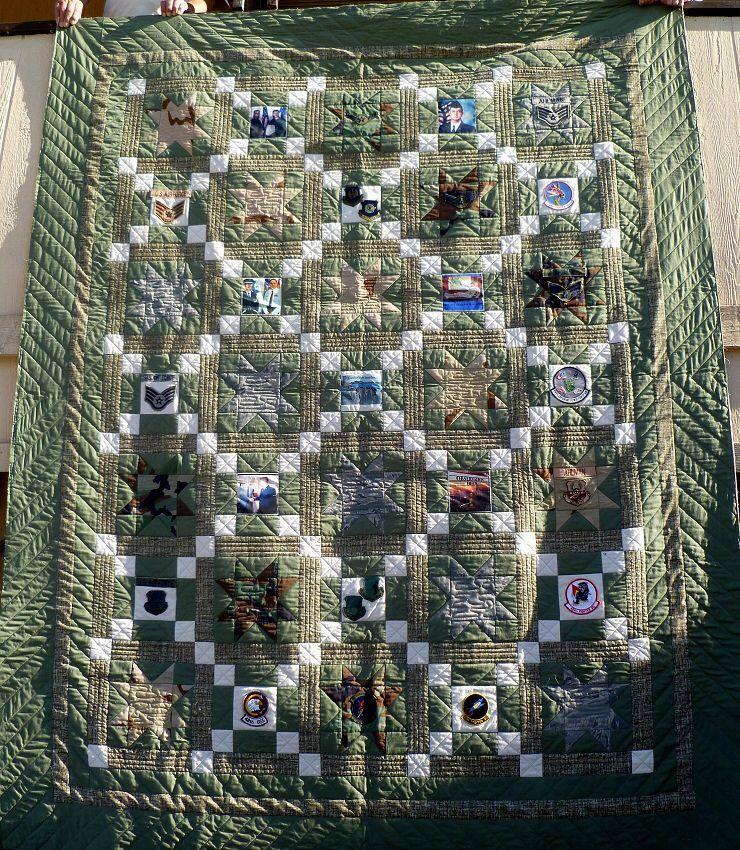 Military Quilt Using Uniforms Quilts Camo Quilt
