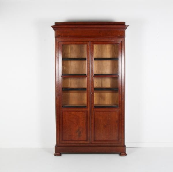 French Antique Bookcase  46 x 16 x 86