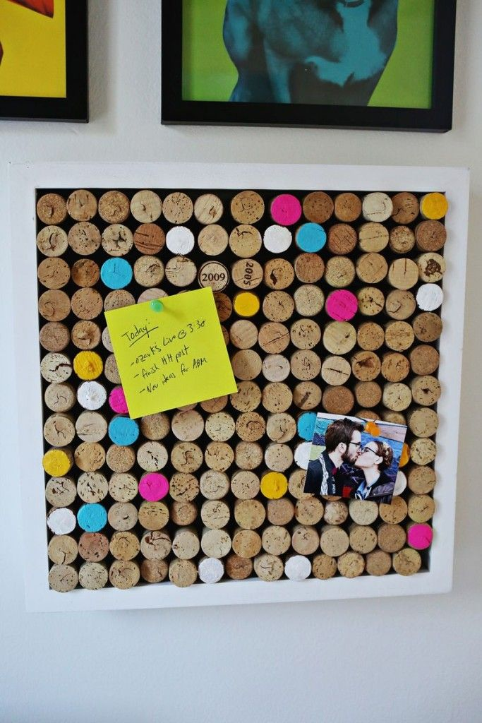 A cork board made of corks Crafting