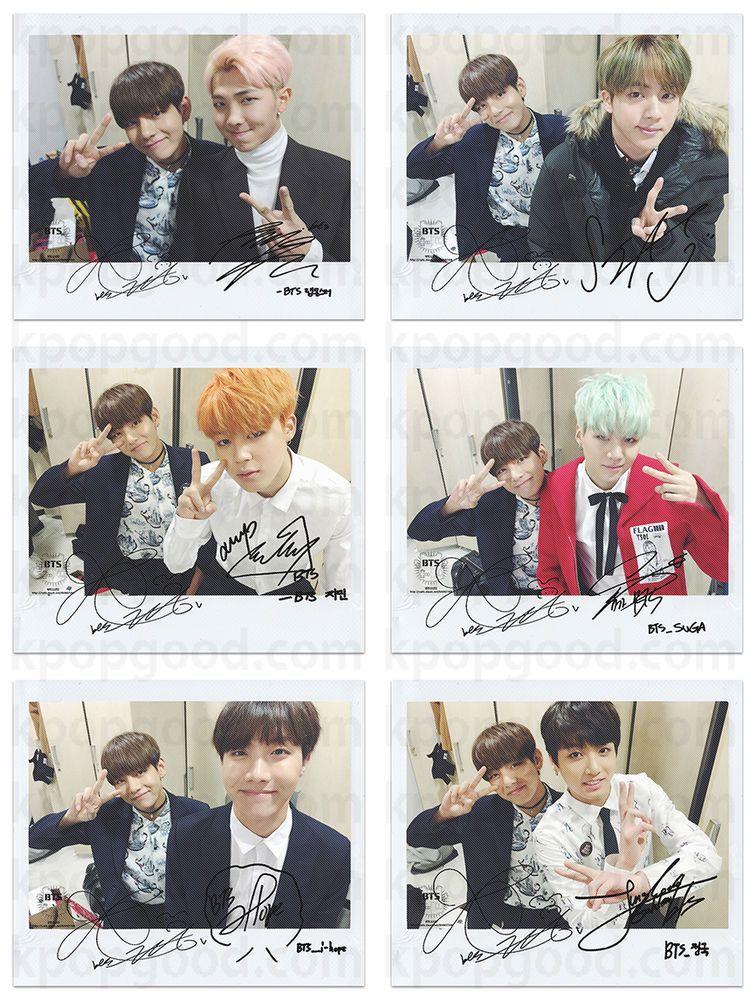 BTS bangtan boys run with v wide polaroid photo set kpop