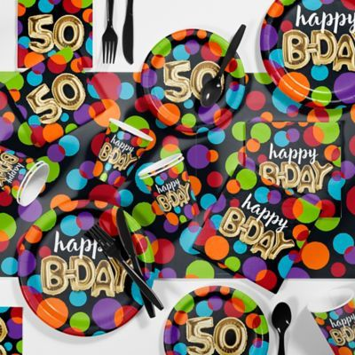 Creative Converting 81-Piece Balloon Blast 50Th Party Supplies Kit Multi #50thbirthdaypartydecorations