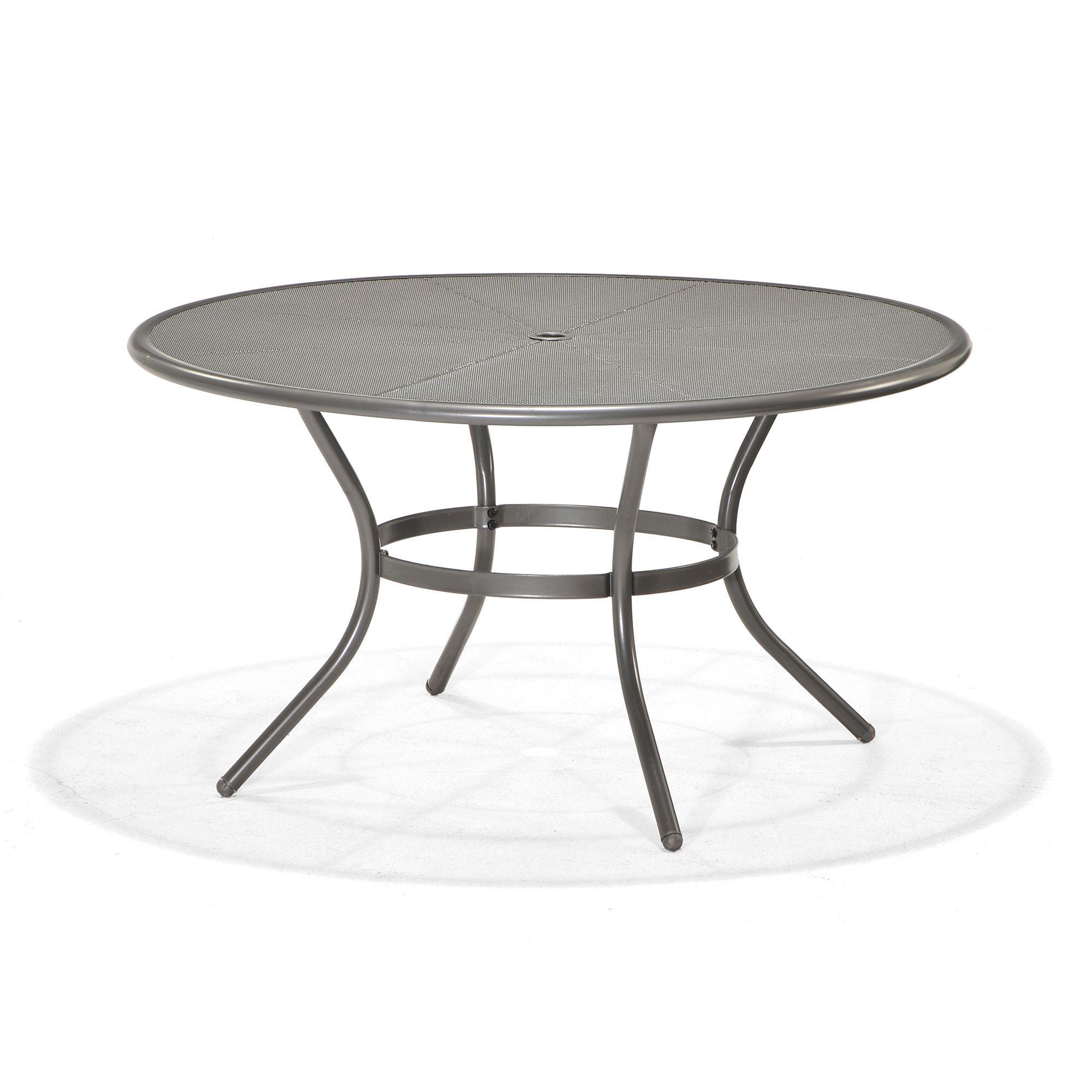 Table Ronde De Jardin En Acier D 140cm Gris Cosmos Mercury Les