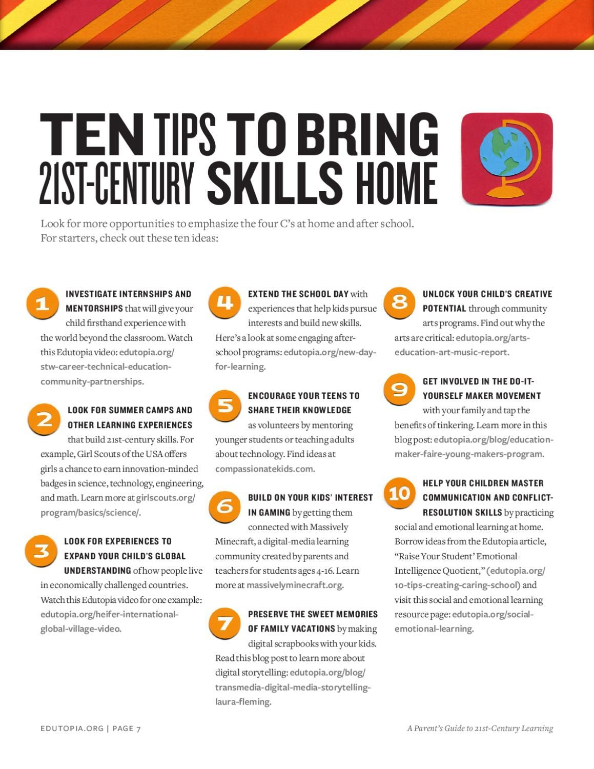Edutopia Parent S Guide To 21st Century Learning