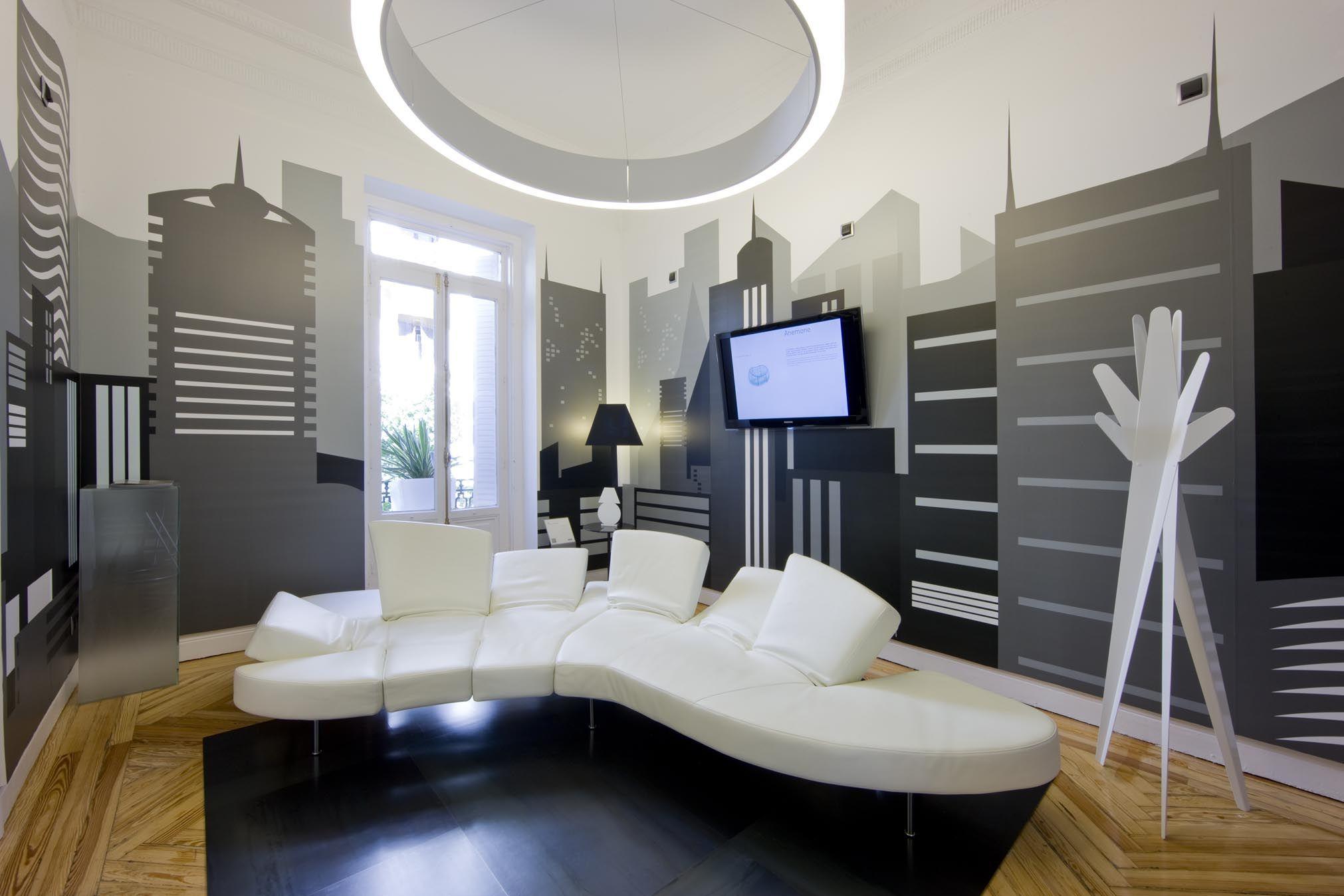 Showroom Espacio Aretha Sala Urbana Sofa Modelo Flap De Edra  # Muebles Fantoni