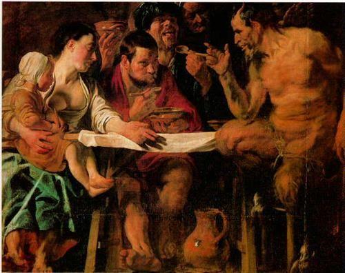Satyr and Peasant - Jacob Jordaens