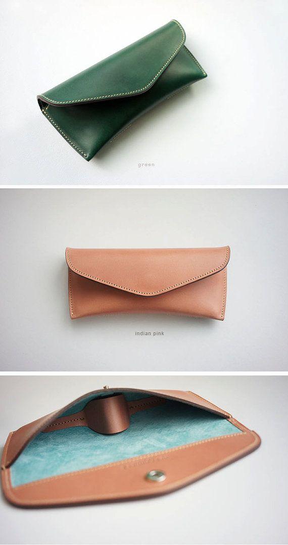 ddeadaf3d0c5 Handmade Vegetable leather Spectacle case Glasses case eyeglasses ...