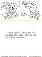 Full Story Colouring Pages The Lion And The Mouse Schoolexpress