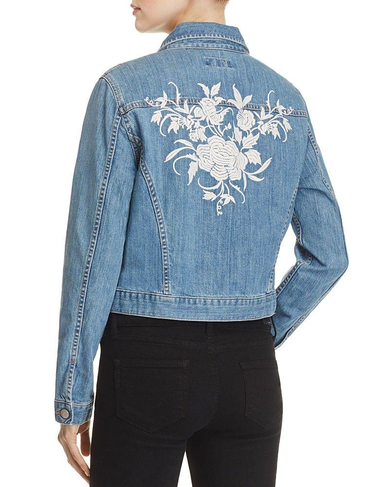 Karen Kane Floral Embroidered Denim Jacket 100 Exclusive Women Denim Bloomingdale S Embroidered Denim Jacket Denim Jacket Refashion Clothes [ 1000 x 800 Pixel ]
