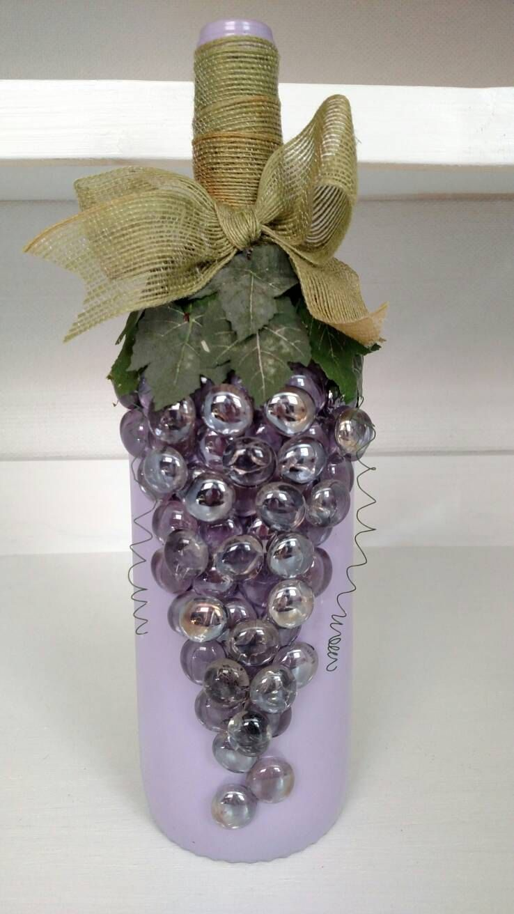 Purple Grape Decor Grape Bottle Purple Bottle Purple Grapes