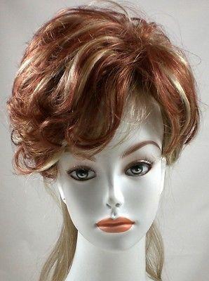 Auburn Pull-through Hair Wiglet Piece w/ 2 FREE toupee Clips to Sew on Base