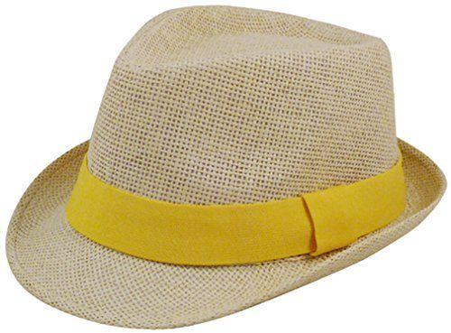 Eqoba Man and Women's Summer Short Brim Natural Straw Fedora Hat, Gold - http://todays-shopping.xyz/2016/05/31/eqoba-man-and-womens-summer-short-brim-natural-straw-fedora-hat-gold/