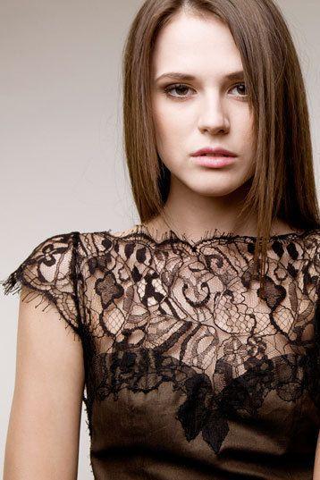 Secret Pal noble dress of dark brown black lace