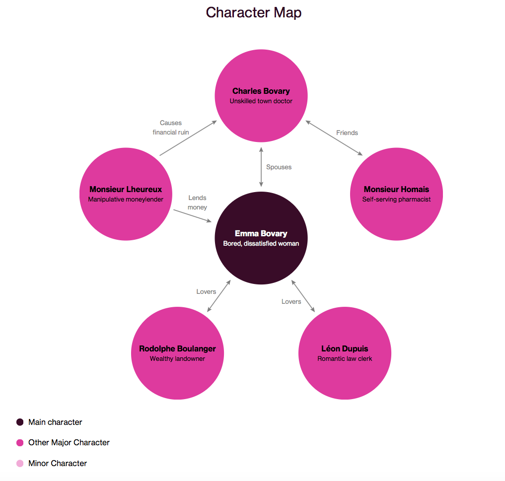 Madame bovary character map literature character maps madame bovary character map biocorpaavc
