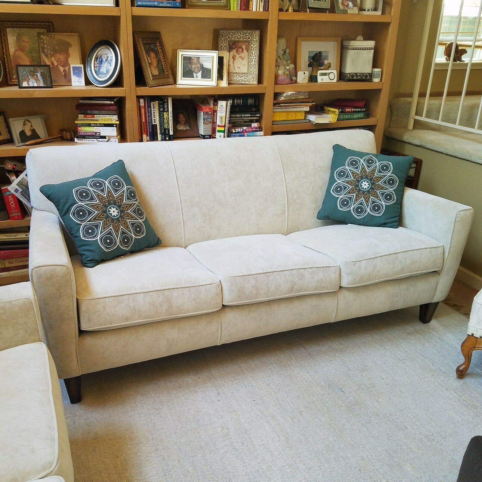 Seat Couch And Loveseat In Parchment