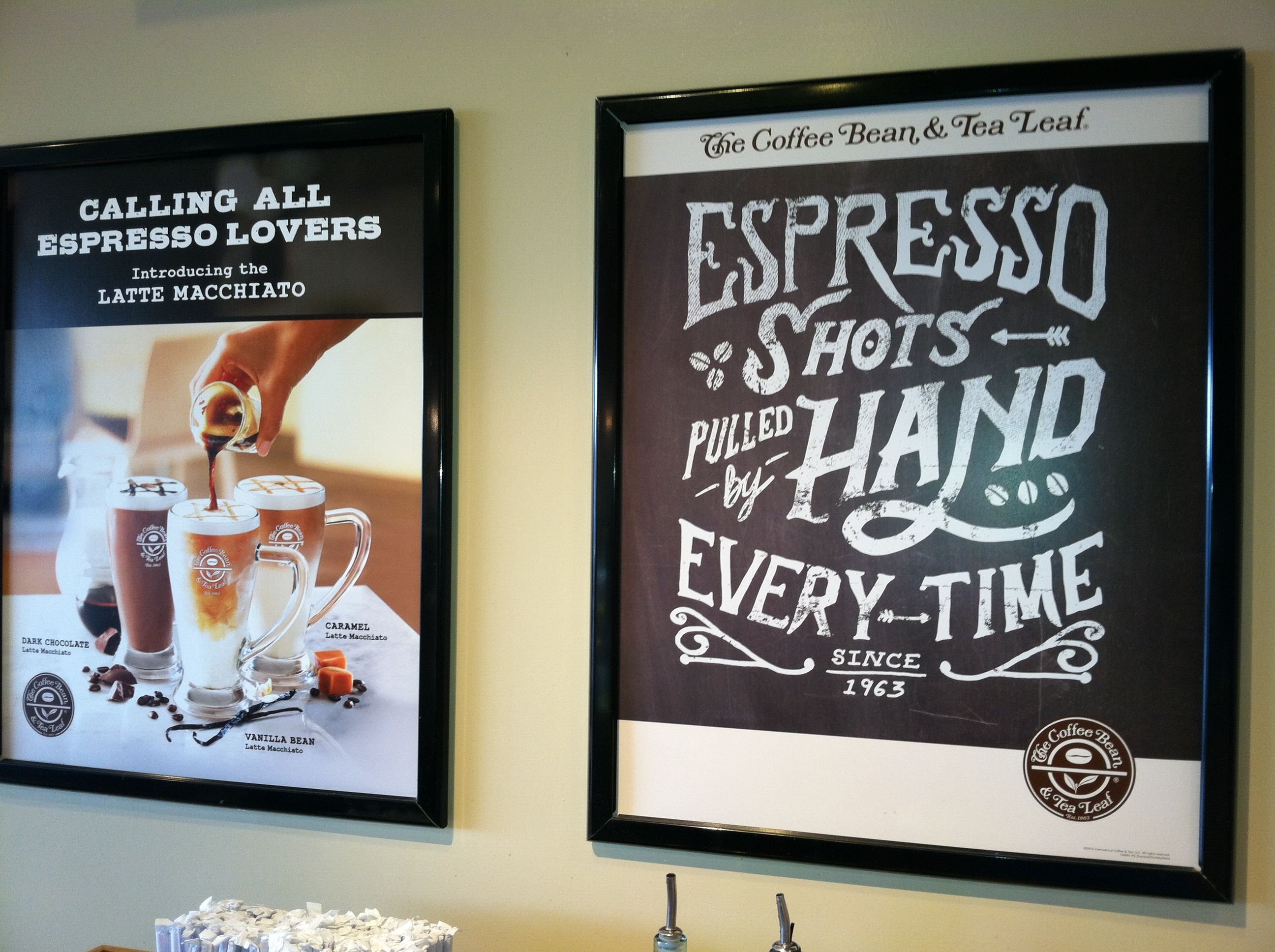 Coffee Bean & Tea Leaf wall signs Tea leaves, Espresso