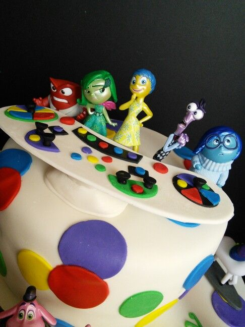 Disney Pixar Inside Out birthday cake Figurines purchased at the