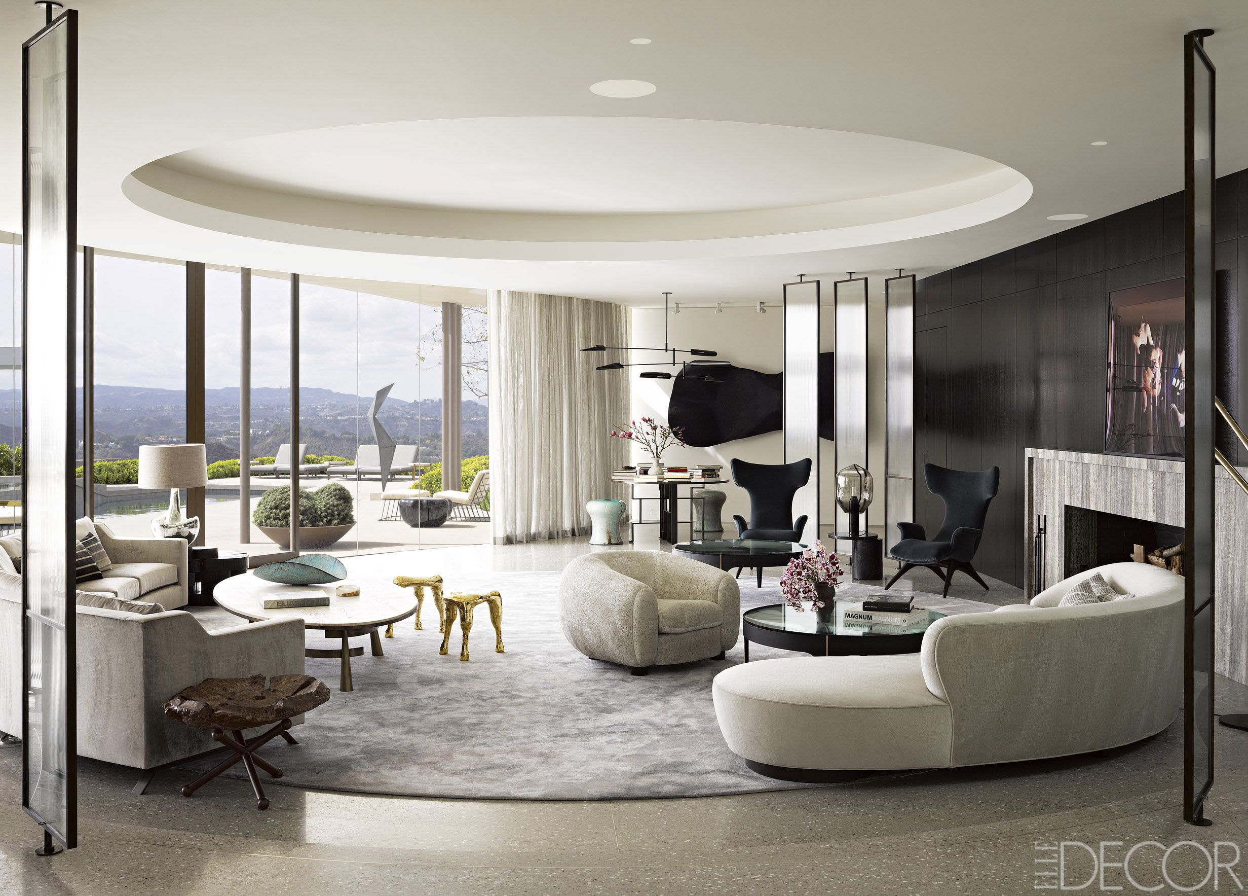 House Tour A Modernized Midcentury Home In Beverly Hills Interior Design Interior Living Room Designs #rich #people #living #room