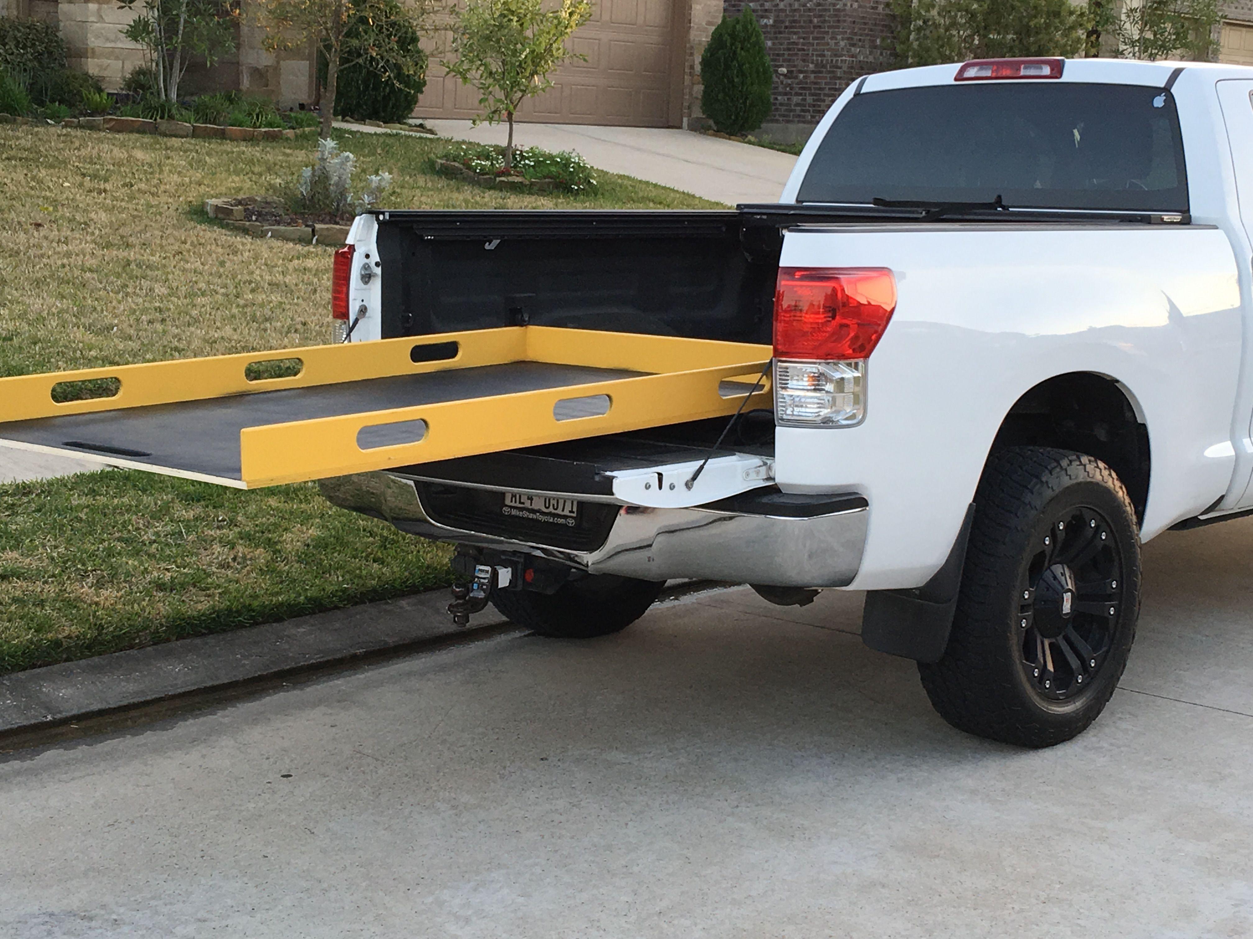 DIY truck bed slide.