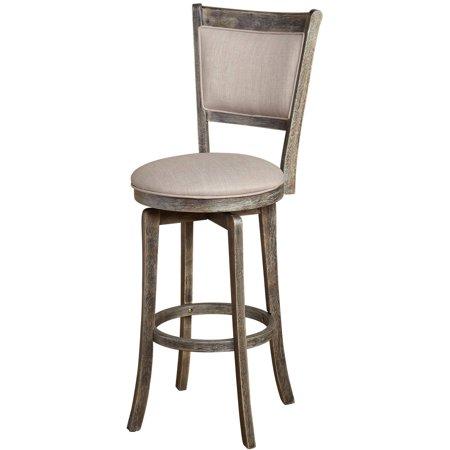 Excellent French Country 30 Inch Grey Swivel Bar Stool Gray Inzonedesignstudio Interior Chair Design Inzonedesignstudiocom