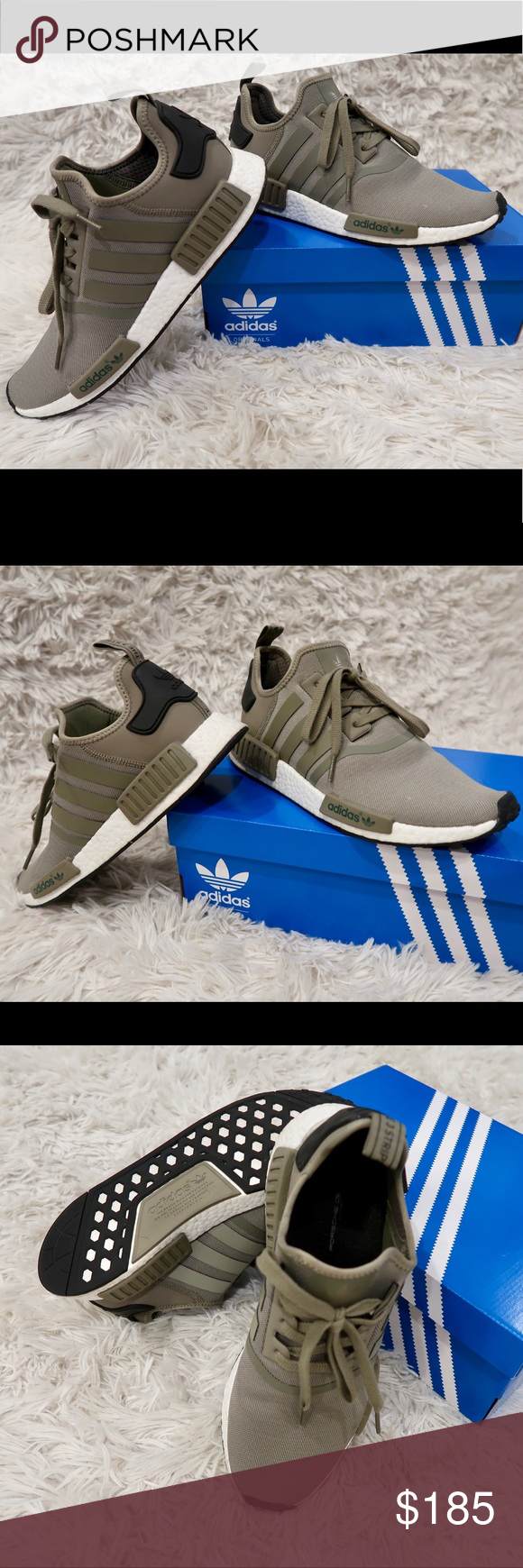 482e6617a ❗️NEW❗️MENS Adidas NMD olive blk size 11 Adidas men NMD r1 trace cargo  olive green   black size 11 ❗️ONLY WORN ONCE ❗️LIKE NEW ‼️Adidas original  ...