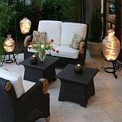 Starlight Outdoor Patio Lanterns The Tops Of Street Lights With A String Christmas Tree Makes Great Impression And Provides Glowing Warmth
