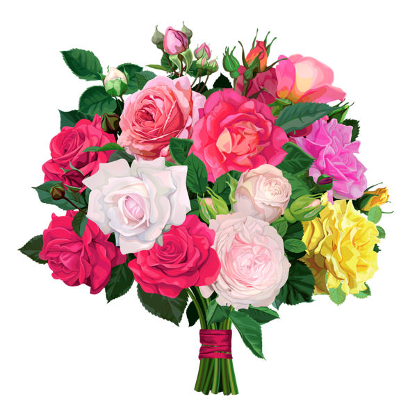 Rose Bouquet PNG Transparent Clipart Buquê de rosas, Rosas