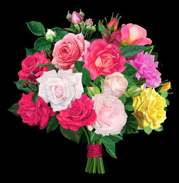 Rose Bouquet Png Transparent Clipart Flower Art Painting Flower Illustration Flower Painting