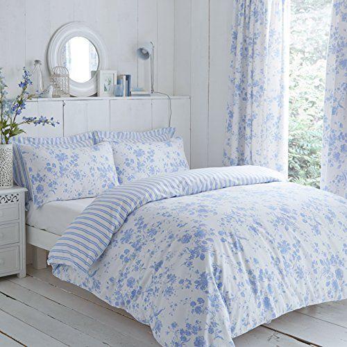 From 42 97 Clic Charlotte Thomas Amelie Bedding Duvet Cover 2 Pillowcases Set Blue Super King