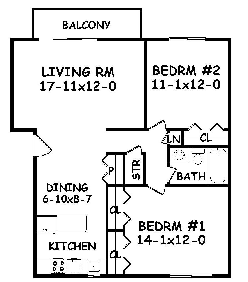 Two Bedroom Small Layout House Plans Floor Plan Design In Law Suite