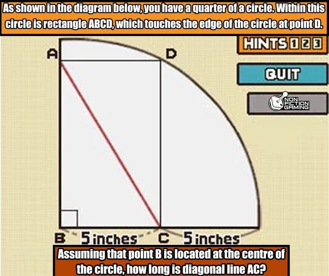 As Shown In The Diagram Below You Have A Quarter Of A Circle Within This Circle Is Rectangle Abcd Which Touches The Ed In 2020 Brain Teasers Professor Layton Layton