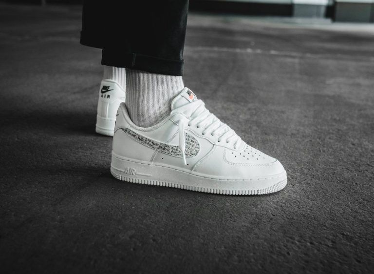 Nike Air Force 1 '07 LV8 LNTC 'Just Do It' White Total