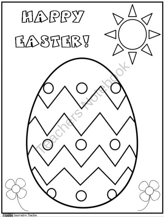 egg coloring pages for preschoolers - photo#45