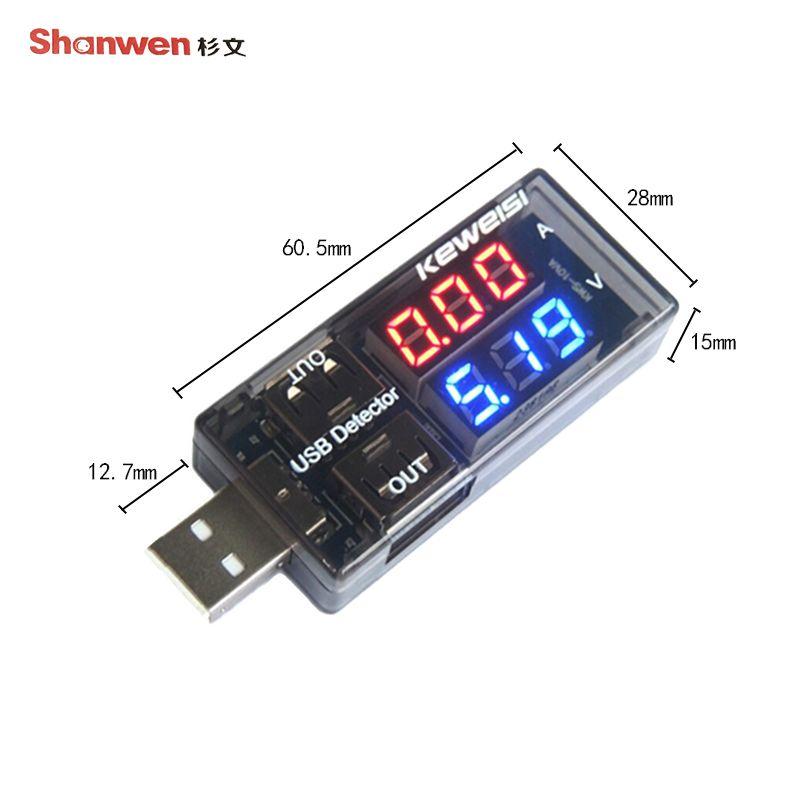 Usb Tester Intelligent Digital Voltmeter Current And Voltage Capacity Detector Instrument Voltage Indicator Usb Digital Detector