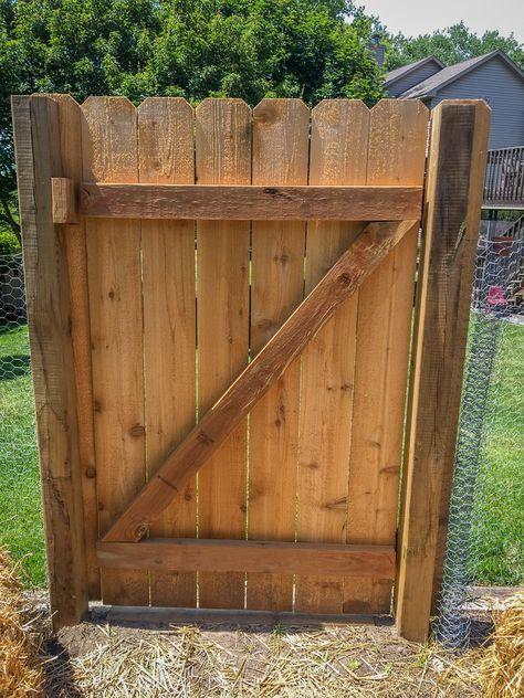 DIY Garden Gate | Wooden garden gate, Diy gate, Cedar garden