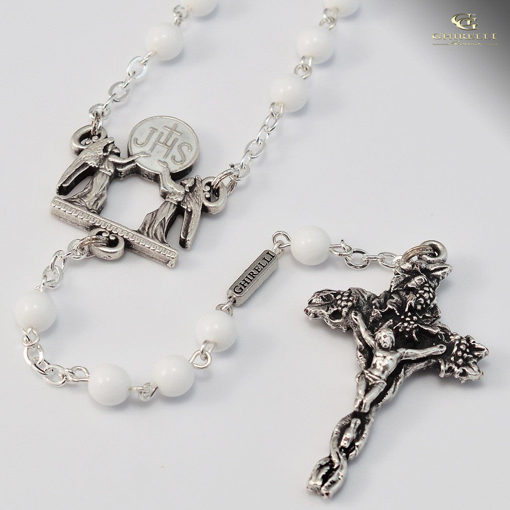 Holy communion silver plated rosary products