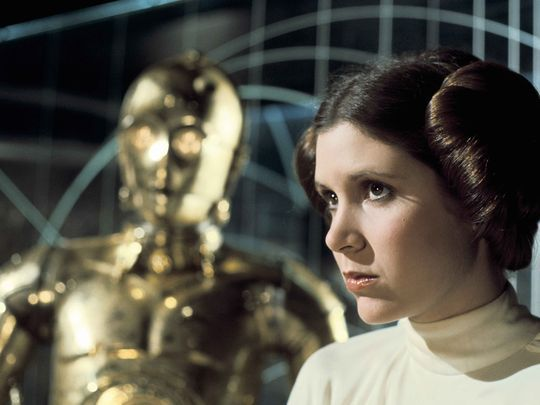 """Princess Leia (Carrie Fisher) in """"Star Wars: A New"""