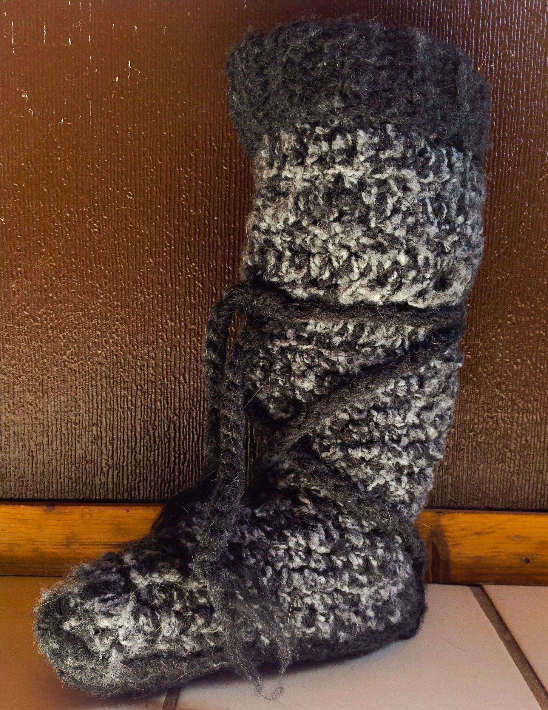 Finally finished my North Woods Slipper Boots for my daughter - Free ...