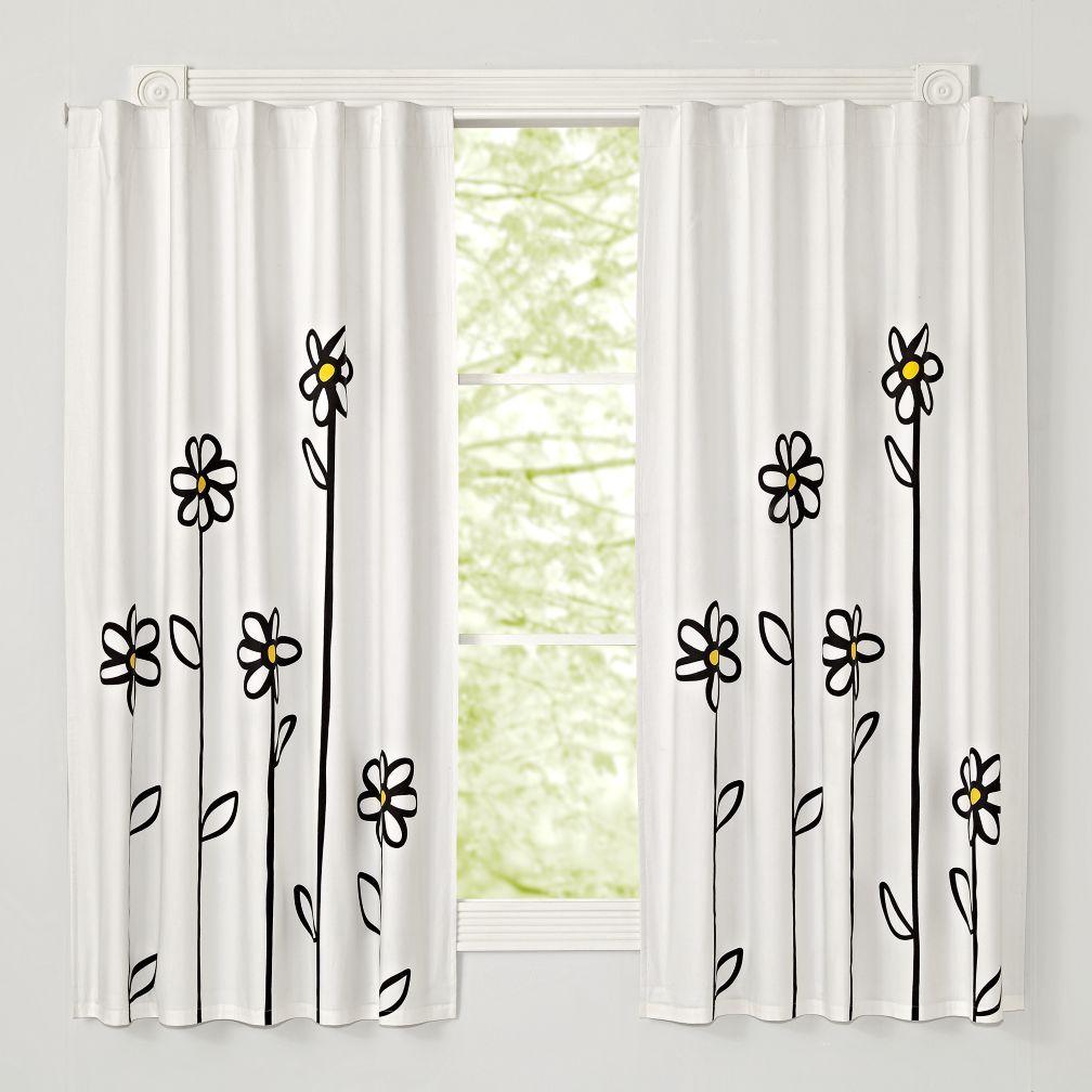 Daisy 96 Blackout Curtain The Land Of Nod Blackout Curtains