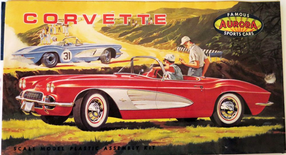Car Toys Aurora Co: Rare Vintage 1962 AURORA Chevrolet Corvette Classic Sports