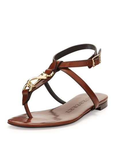 Burberry Leather Sandals RhGGEAlde