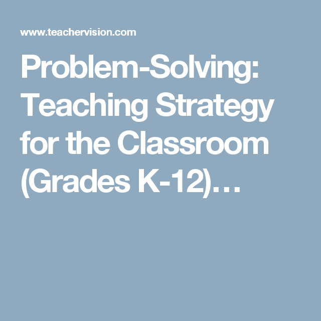 problem solving teaching strategy