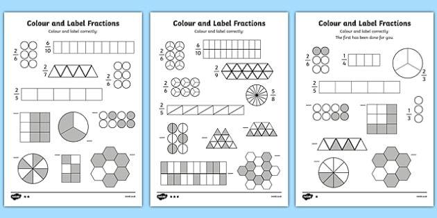 Картинки по запросу fraction coloring worksheets 5th grade   fracţii ...