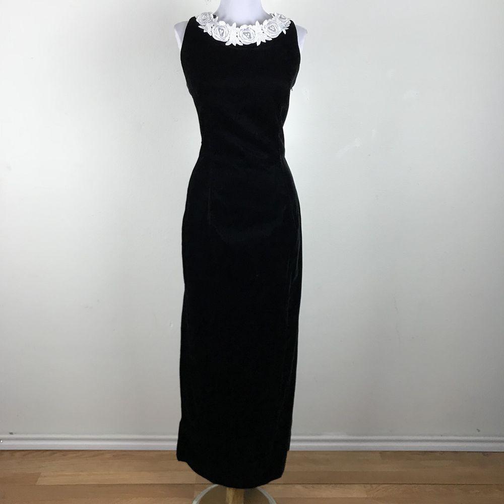 Vintage 90s Prom Dress Black Velvet Floral Open Back Scott Mcclintock Cocktail M Scottmcclintock Prom Fashion Sleeveless Formal Dress Formal Dresses [ 1000 x 1000 Pixel ]