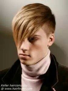 Corte de pelo flequillo largo hombre
